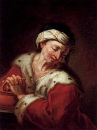 mann mit einem kohlenbecken, allegorie des winters by franz laurenz korompay