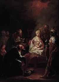 christi geburt mit anbetung der heiligen drei könige by johann baptist enderle