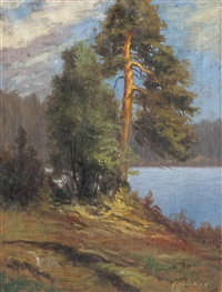 pine on the shore by arthur heickell