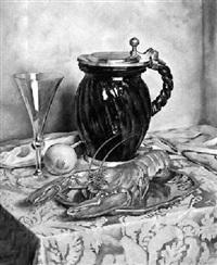 stilleben mit hummer und zitrone by franz aumer