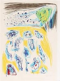 jaune-bleu by asger jorn