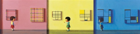 red yellow blue a set of 3 by liu ye