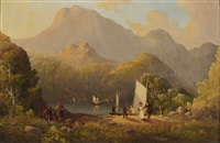loch katrine (from scott's lady of the lake) by samuel b. foster