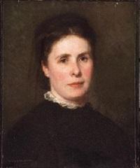 retrato de dama vestida de negro by jesus corredoira