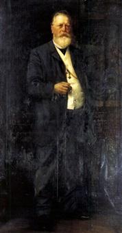 portrait eines mannes mit bart by toni aron