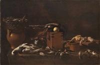natura morta di pollame e dolciumi by evaristo baschenis