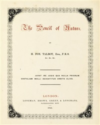the pencil of nature (11 works, folio 4to) by william henry fox talbot