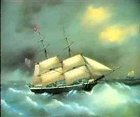 schiffsportrait der brigg