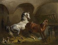 unruhe im pferdestall by emil adam
