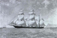 triple masted clipper ship by justo ruiz luna