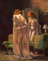 at her dressing table by kyra markham