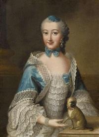porträt einer dame des mopsordens by anna rosina lisiewski