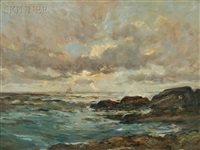 sunset mass. coast by charles paul gruppe