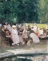 zomer in het park by emile hoeterickx