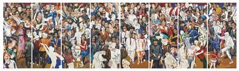 modern crowds in 8 parts by wang jinsong