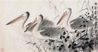 水宿云飞禽共乐 (birds) by xu xiaobin