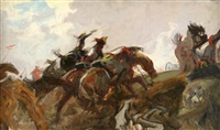 charge of the cuirassiers by charles hoffbauer