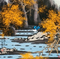 金秋 (bird and landscape) by cui ruilu