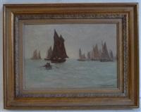 a fishing fleet by joseph richard bagshaw