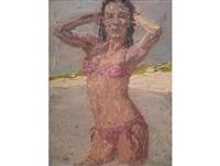 bikini girl by anton karstel