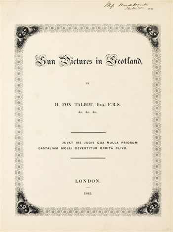 sun pictures in scotland 23 works irgr folio 4to by william henry fox talbot