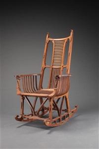 alligator rocking chair by john george osborn