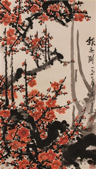 plum blossoms by guan shanyue