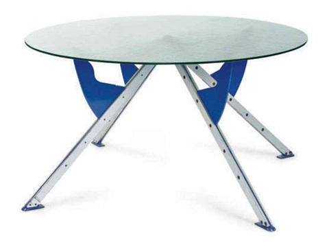 President m dining table prototype by philippe starck on for Philippe starck glass table