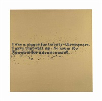 no room (gold) #52 by glenn ligon