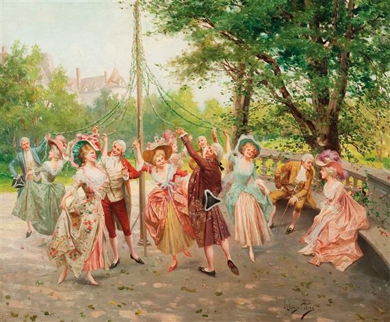 feest in het park la fête dans le parc by mariano alonso pérez