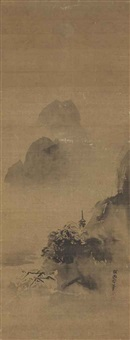 chinese landscape (style of kano tan'yu) by shohaku