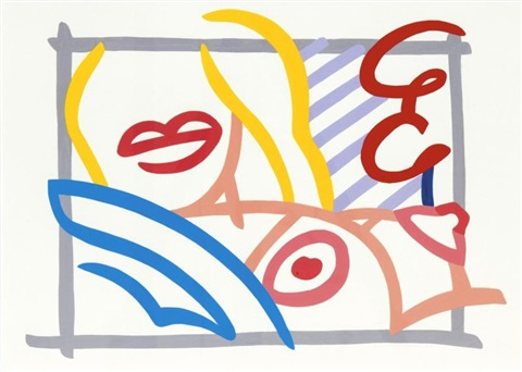study for bedroom blonde with lavender wallpaper by tom wesselmann