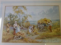 rural scenes with figures by horace hammond