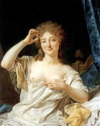 portrait d'une femme assise by jean françois gilles colson