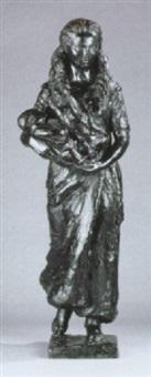 stående kvinde med barn by paul cornet