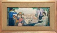 romeria en begoña (boceto) by aurelio arteta y errasti