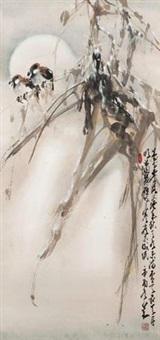 竹林寒雀 by zhao shaoang