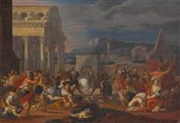 der tod der polyxena (+ der bethlehemitische kindermord; 2 works) by isaac fisches