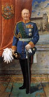 portrait von könig friedrich august iii. von sachsen in paradeuniform mit orden by toni aron