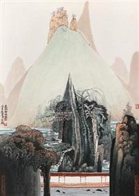逸水静山图 by xue liang