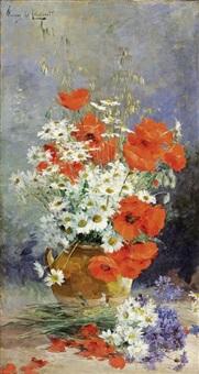 fleurs dans un pot de terre by albert tibule furcy de lavault