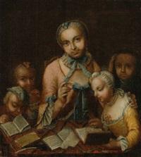 junge mutter mit vier kindern by gabriel spitzel