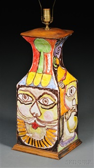 pottery vase/table lamp by giovanni de simone