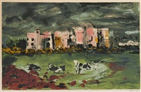 carew castle (levinson 334) by john piper