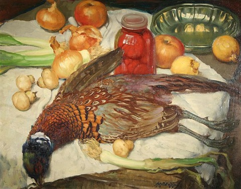 still life with pheasant by albert janesch