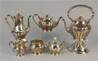 coffee and tea set (6 pieces) by karl leinonen