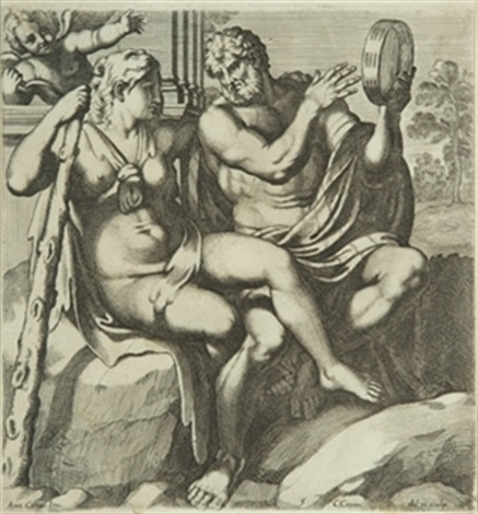 iole y hércules by annibale carracci