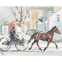 horse and carriage by peter etril snyder