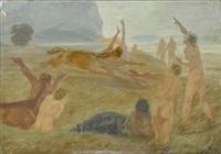 landschaft mit kentauren und akten by walter richard rehn