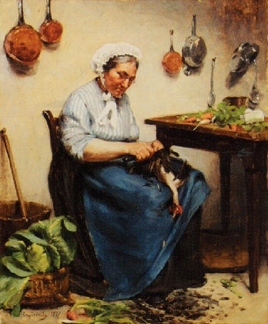 plucking the chickens by louis capdevielle